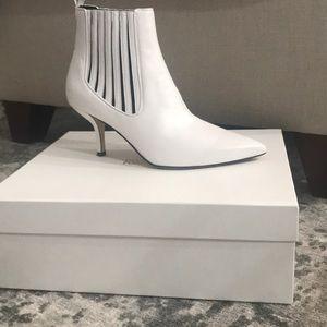 Diane von Furstenberg white Mollo booties